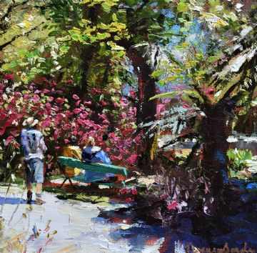 Jeremy Sanders Original Oil Painting Trengwainton Garden Madron Penzance Cornwall